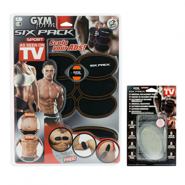 Gymform Six Pack + 8 Patches de rechange
